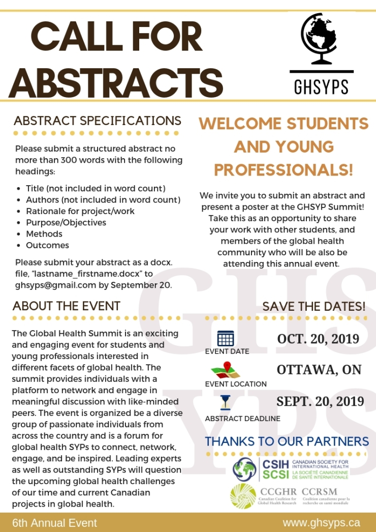Abstract call 2019